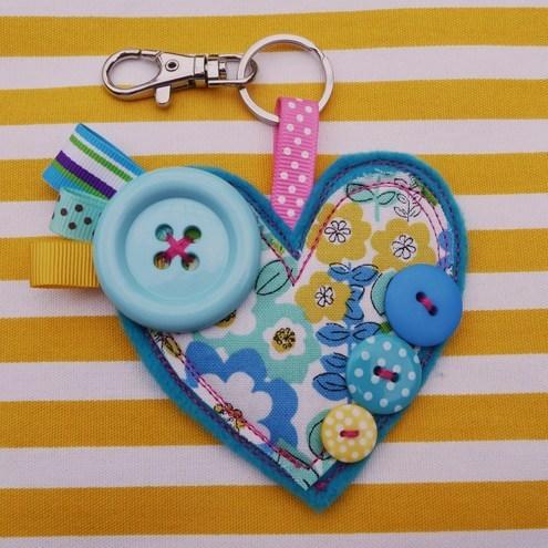 Heart Bag Charm/Keyring