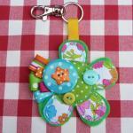 Flower Bag Charm/ Keyring
