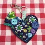 Heart Bag Charm / Key Ring