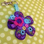 Flower Bag Charm / Key Ring